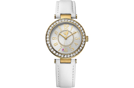 Juicy Couture Womens Cali Quartz Casual Watch, White -Model: 1901396