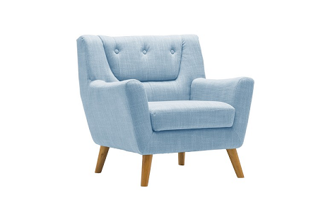 Birlea Lambeth Chair, Armchair, Duck Egg Blue