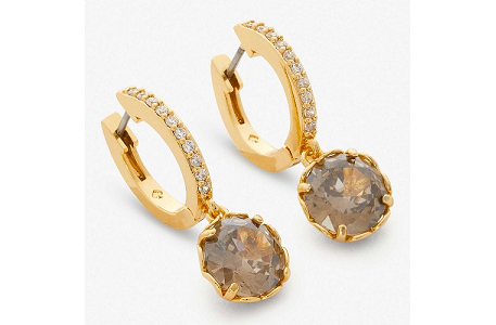 Kate Spade New York That Special Sparkle Drop Earrings, Diamond Grey/Gold