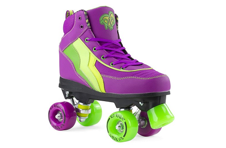 Rio Roller Skates, Kids Quad Skates, Grape, Purple, Size UK 3 / EU 35.5