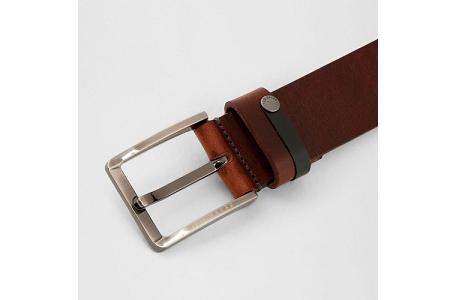 34ddaecbe Ted Baker Keepsak Mens Contrast Detail Bovine Leather Belt