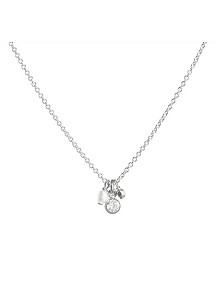 Dogeared Three Wishes Cluster Pendant Necklace, Silver