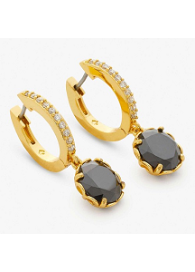 Kate Spade New York That Special Sparkle Drop Earrings, Jet Black/Gold
