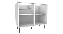 900mm Wide Kitchen Base Cabinet, 720mm Tall x 570mm Deep, White