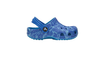 Crocs Children's Water Graphic Classic Croc Clogs, Blue, Size UK 4 Infant