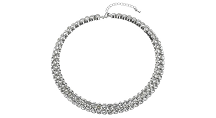 John Lewis Diamanté Statement Collar Necklace, Silver