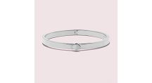 Kate Spade New York Heritage Spade Thin Metal Button Bangle, Silver