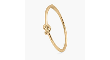 kate spade new york Loves Me Knot Thin Open Cuff, Gold